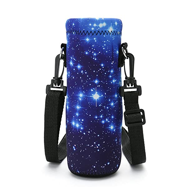 500ml Water Bottle Insulated Neoprene Cover Carrier Bag Pouch Shoulder Strap