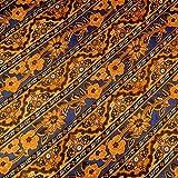 PRIMA HALUS インドネシア バティック ジャワ更紗(プリント) 花と草のモチーフ (パターン2) ネイビー [並行輸入品]
