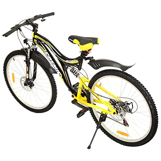 cosmic voyager 21 speed gear bicycle 26 inch blackyellow