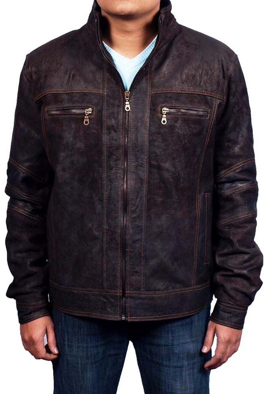 Men's Mash Snuff Leather Jacket