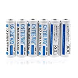 ON THE WAY®6 Pack 1200mAh TCR 14500 3.7V AA Rechargeable Li-ion Battery for LED Torch