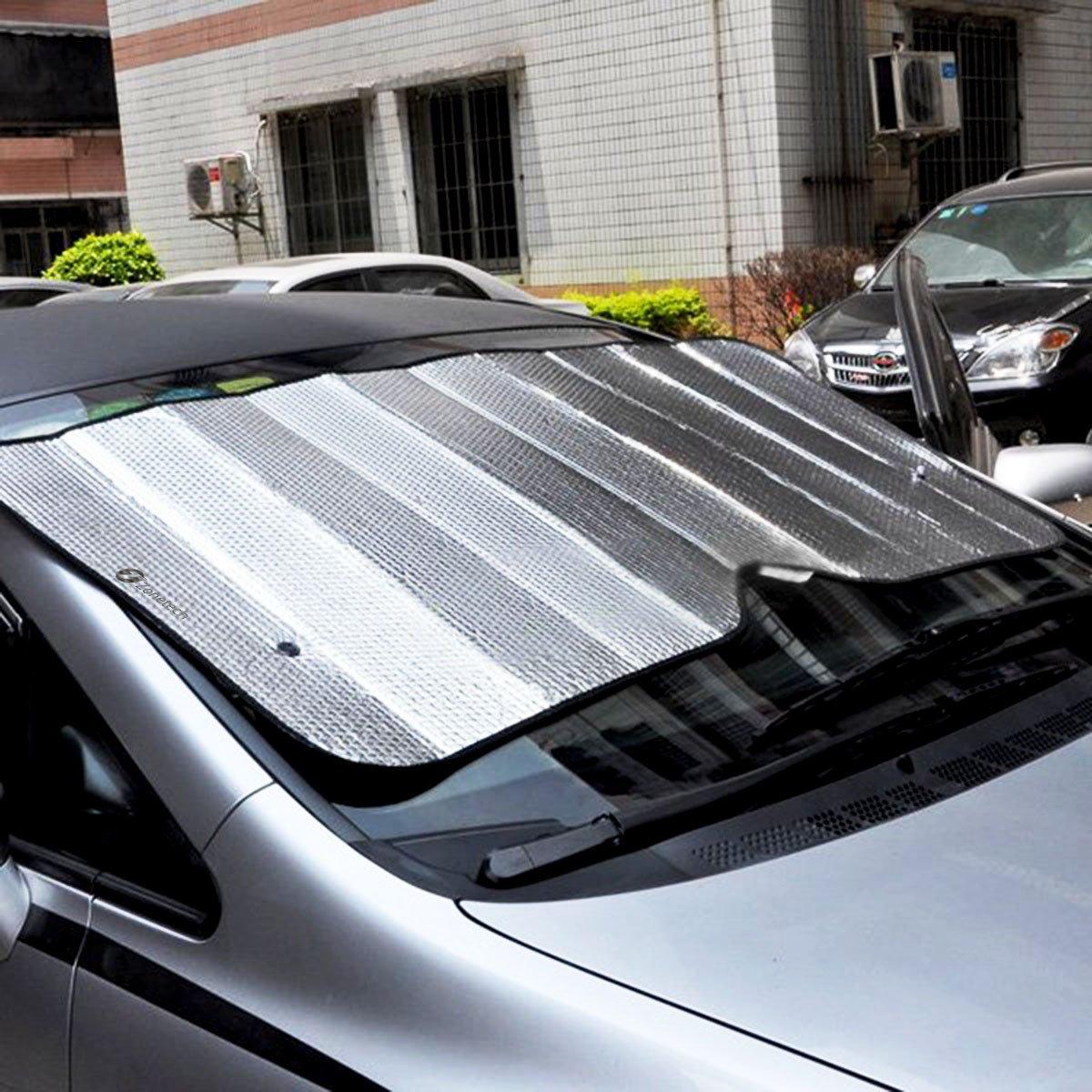 Sun Shades For Cars : Zone tech car accordion windshield sun shade standard