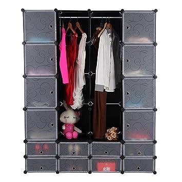songmics diy armoire penderie penderie cubes tag re. Black Bedroom Furniture Sets. Home Design Ideas