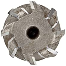 "Niagara Cutter TS109 T-Slot Shank Type Cutter, High Speed Steel, Uncoated (Bright), Weldon Shank, 10 Helix Angle, 25/32"" Cutter Diameter, 8 Tooth, 21/64"" Width"