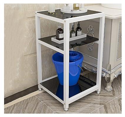 Mensole del bagno, mensola tre strati stabilimento bagno igienici in plastica hotel bacino rack di stoccaggio non pugno 40 * 50 * 80 cm ( Colore : #4 )