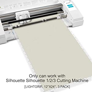 Monicut Cutting Mat 12x24 Standardgrip for Silhouette Cameo 3/2 /1(3 Pack) Durable Cut Mat with Adhesive&Sticky Non-Slip PVC Perfect for Crafts, Quilting, Scrapbooking, Sewing and All Arts (Color: transparent for Cameo 12*24 3pack, Tamaño: StandardGrip)