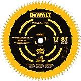 DEWALT DW3219PT 10-Inch 80T Fine Crosscutting Saw Blade (Tamaño: 5/8