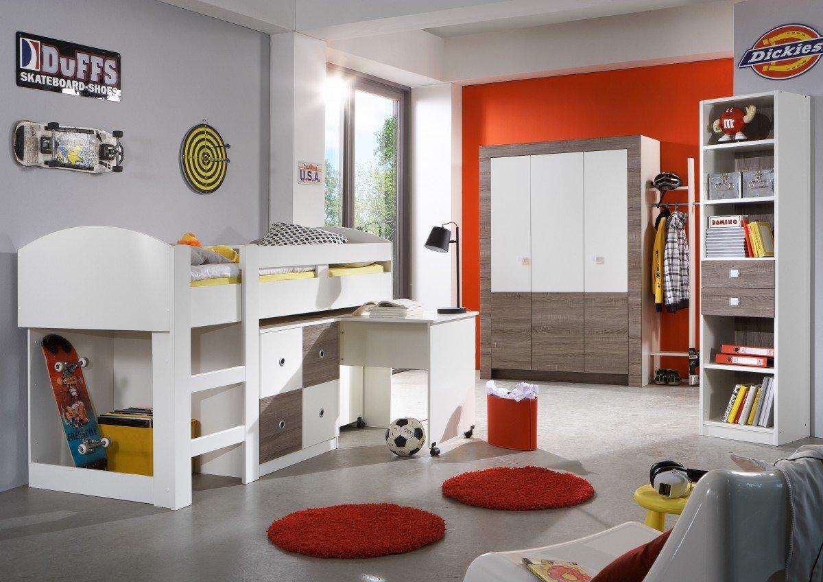 Dreams4Home Kinderzimmer 'Louis', Jugendzimmer, Schreibtisch, Komplett, Kinderschreibtisch, Kinderkleiderschrank, Jugendbett online kaufen