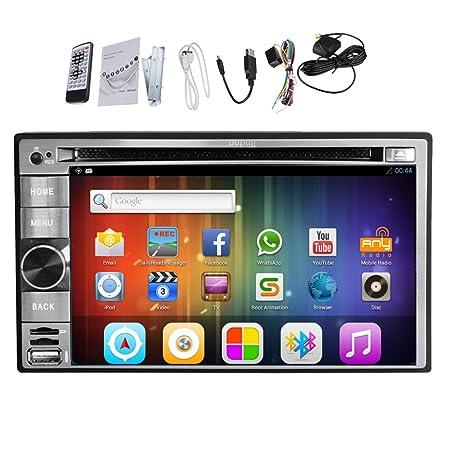 En el tablero de Android 4.2 universelle 6,2 pulgadas Vehšªculo En Dash USB coches Lecteur DVD / SD plusieurs tš¢ctil capacitiva con 3G WIFI Electrš®nica RDS GPS Bluetooth pour iPod universelle tactile vw d'š&Scar