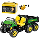 Peg Perego John Deere Gator XUV 6x4 Ride On with Extra 24v Battery and Charger