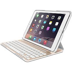 Belkin F5L176TTWGW Ultimate Pro Keyboard Case for iPad Air 2 - Gold/White