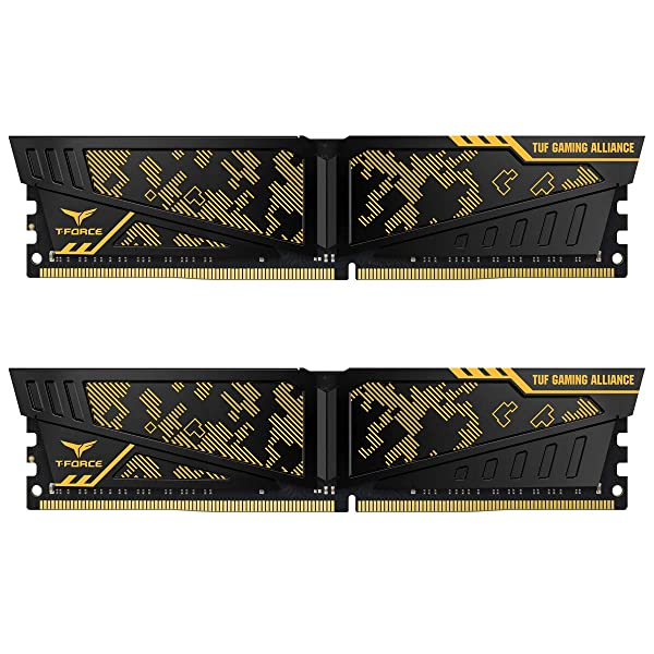 Tuf Gaming Alliance 16gb (2 X 8gb) Ddr4 3000mhz Dimm, Yellow Heatspreader (Tamaño: 16 Gb)