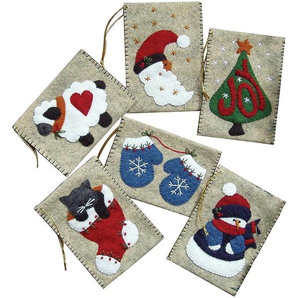 Rachel's Of Greenfield Gift Bag Ornaments Kit-3X4 Set Of Six