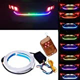 Tail Light, JAYEJA 5 Function 12 Driving Modes Remote Control Flexible Car Tail Trunk Brake Reversing Turn Signal Light Lamp 5050 Led Running Signal Light Car Flowing Warning Light