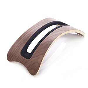 eimolife® Creative Handcrafted Natural Wood Bamboo Hard Panel Stand Holder for PC, iPad, Computer, Mac book Air, Mac book Pro, Tablet PCs, eReaders, Books, Artwork and more (White Birch) (PC, Dark)review and more information