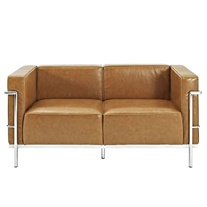 Charles Grande Loveseat in Tan
