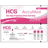 AccuMed® Pregnancy (HCG) Test Strips Kit, Clear and Accurate Results, FDA Approved and Over 99% Accurate, 50 count - Expire 03/2019 (Tamaño: 50 HCG)