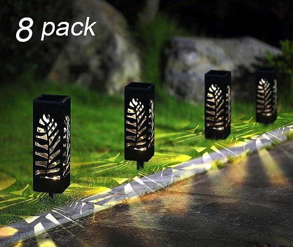 Maggift 8 Pcs Solar Pathway Lights Solar Garden Lights Solar Lights Outdoor for Lawn, Patio, Yard, Walkway, Landscape