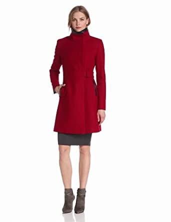 Via Spiga Women's Stand Collar Wool Coat