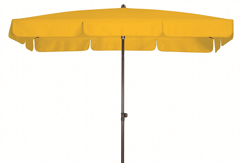 Absolut wasserdichter Gartenschirm Waterproof 260x150 von Doppler mit UV-Schutz 80, Farbe gelb