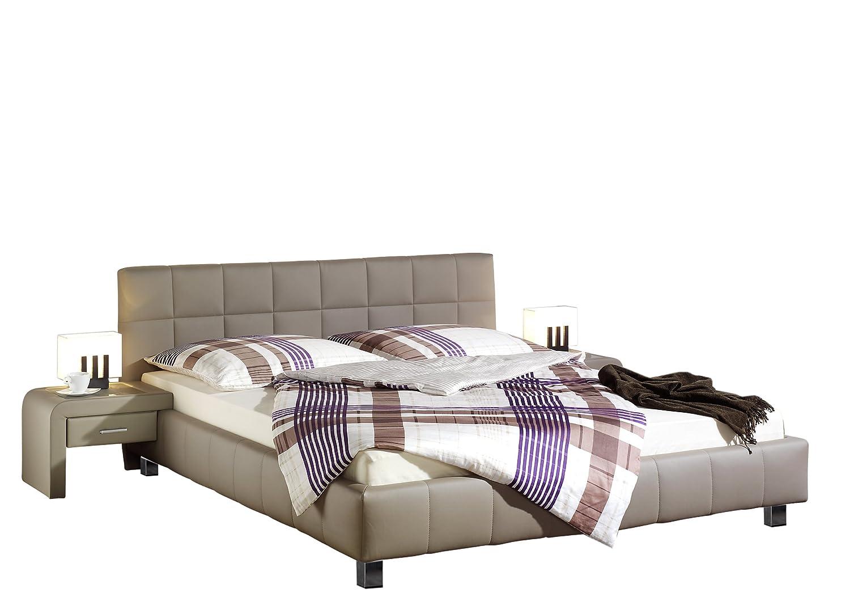 Maintal Betten 240191-4130 Polsterbett Java, 180x200 cm, Kunstleder, schlamm