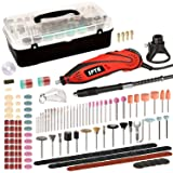 SPTA RT388AC Advanced Multi-functional Rotary Tool Kit with 388 Accessories and 4 Attachments Variable Speed for Around-the-House and Crafting Projects (Color: 338Pcs Rotary Tools Set)