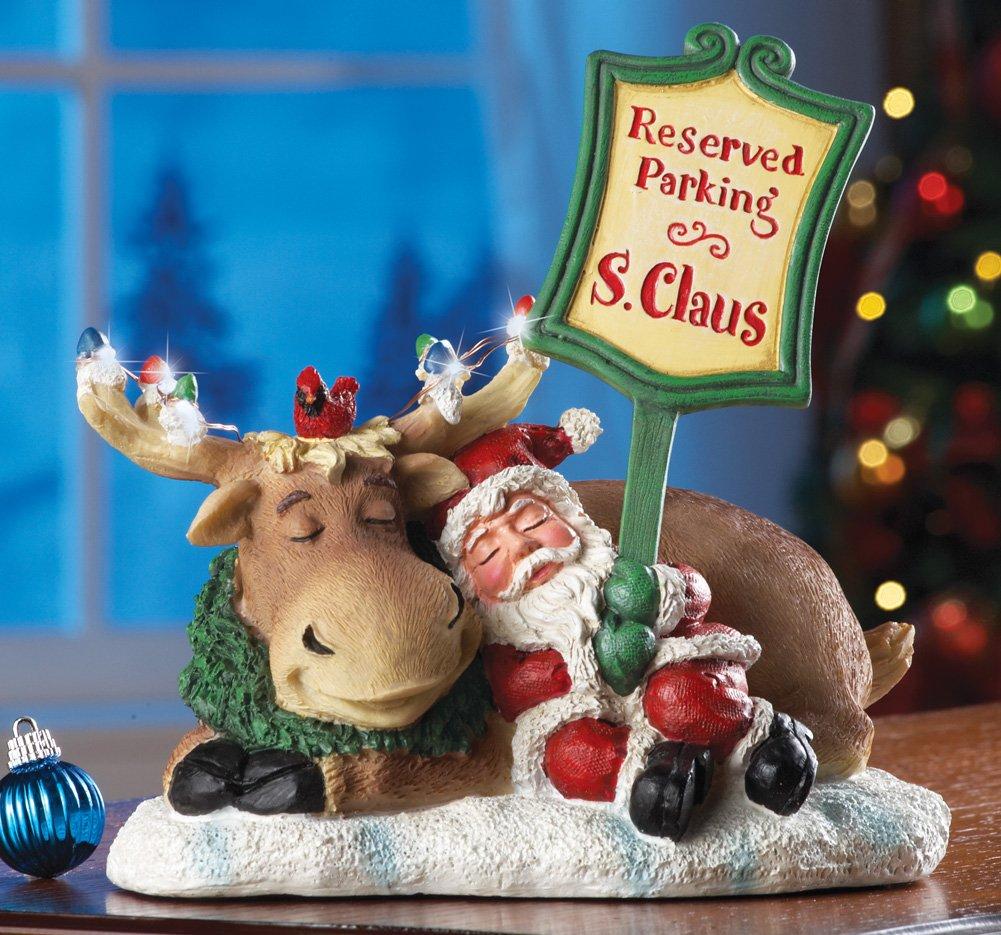 End Of A Long Night Santa Claus Christmas Sculpture