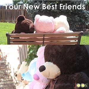 JOON Huge Teddy Bear - Cream (Color: Cream, Tamaño: 38 inches)