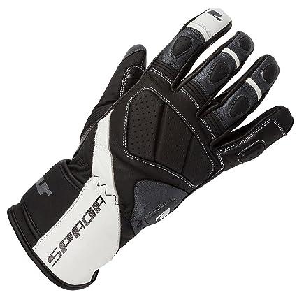 Gants de cuir de moto Spada Burnout noir/blanc