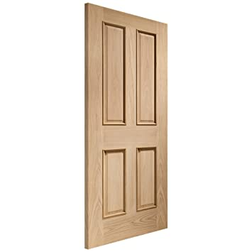 XL Joinery Internal Un-Finished Oak Victorian 4 Panel Door with Raised Mouldings 1981x533x35mm (78''x21'')