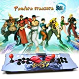 XFUNY Arcade Game Console 1080P 3D & 2D Games 2020 in 1 Pandora's Box 3D 2 Players Arcade Machine with Arcade Joystick Support Expand 6000+ Game (Color: SF)