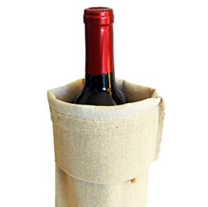 Bulk Blank Wine Bags for Heat Transfer Vinyl 10-Pack Reusable Customizable for Crafts Gifts Wedding Event Swag Linen with Jute Drawstrings (Color: Brown)