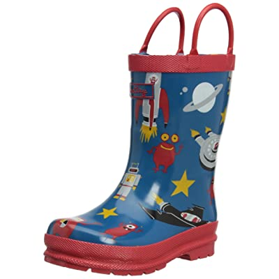 Hatley Space Ships Boys Children's Rubber Wellington Boots