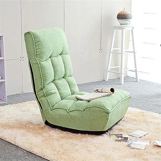 Divano sdraiato Divano piccolo Tatami sedia singola Sedia pieghevole Divano divano Poltrona piccola da ufficio Sedia da computer a pavimento , green