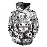 Hoodies Sweatshirt NEW Autumn Winter Men's Long Sleeve Pullovers Funny 3d Print Tracksuit Plus Size Dropship Ahegao hoodies M (Color: Ahegao Anime, Tamaño: Medium)