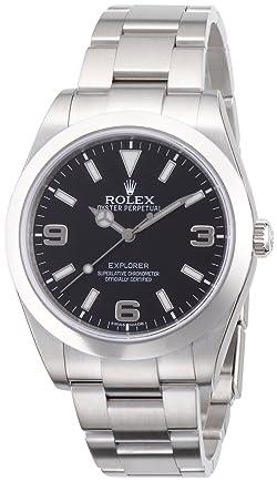 ROLEX エクスプローラー1 ブラック文字盤 アラビアインデックス SS 腕時計 Ref.214270 メンズ 【並行輸入品】