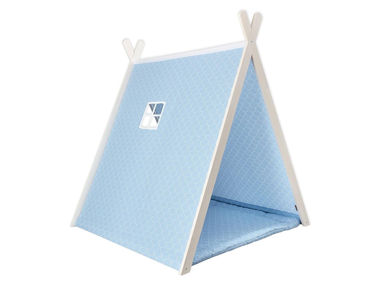 KraftKids Spielzelt weiße Halbkreise auf Pastelblau bestellen