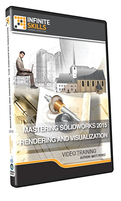 Mastering SolidWorks 2015 - Rendering and Visualization - Training DVD Book Cover