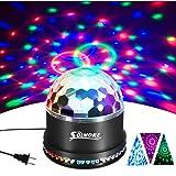 Disco Ball Lights, SOLMORE 12W Sound Actived RGB LED Party Lights Stage DJ Lights Strobe Light Crystal Magic Rotating Light for KTV Party Wedding Home Show Club Pub Decor AC85V-260V (Color: Style 2)