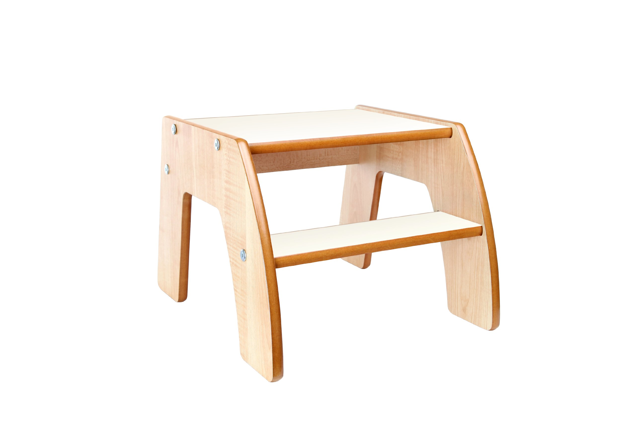 Marvelous photograph of  Helper FunStep Wooden Step Stool with Natural Edging (White) eBay with #AE5310 color and 2560x1707 pixels