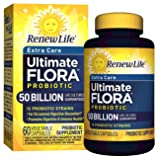 Renew Life - Ultimate Flora Probiotic Extra Care - 50 billion - 60 vegetable capsules (Color: 60 Count, Tamaño: 60 Count)