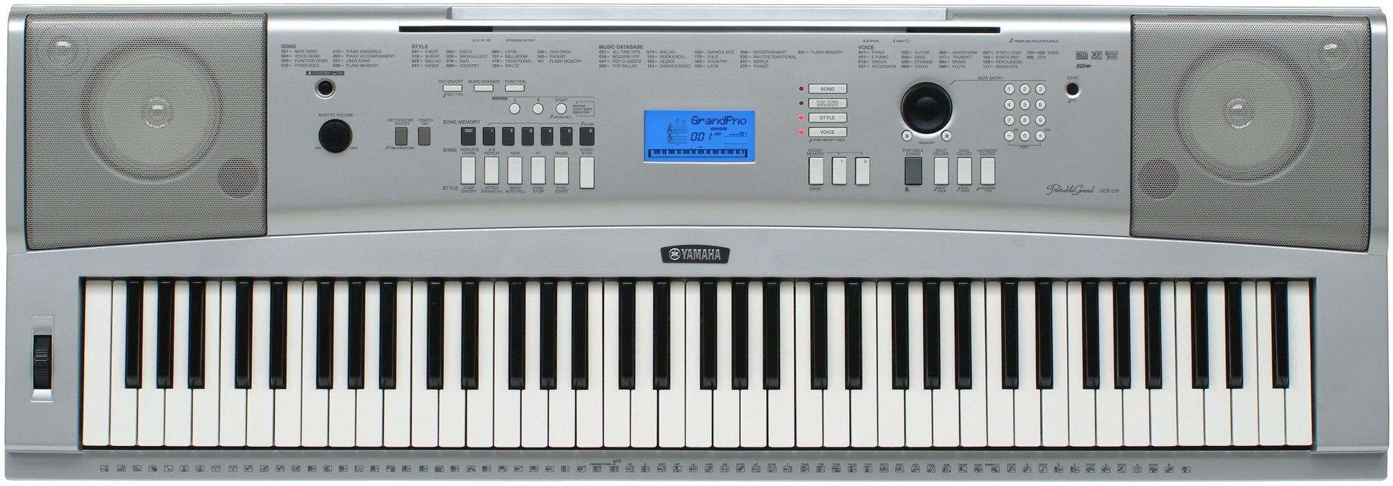 Galleon yamaha dgx230 76 key digital piano pack with for Yamaha digital piano philippines