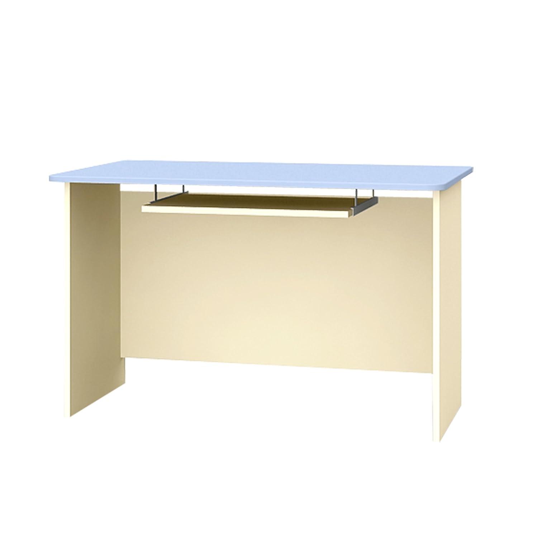 Schreibtisch mit Tastaturablage Kinderschreibtisch BLUE LAGOON 120x70x75cm blau beige B-120