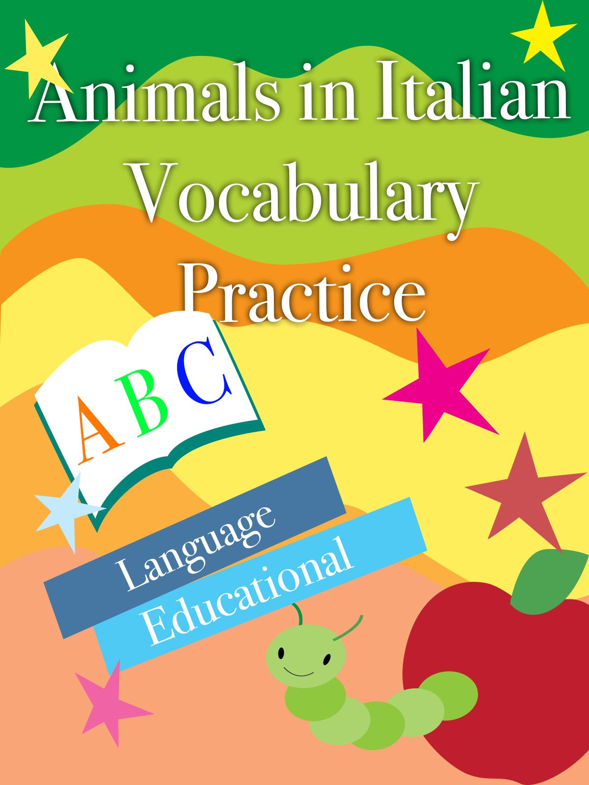 Animals in Italian Vocabulary Practice Language Educational