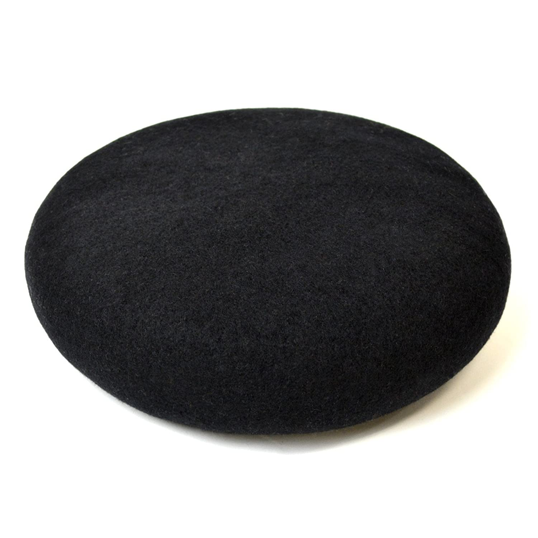 TRIBAL(トライバル)_(トライバル)TRIBAL ふんわり丸いフォルム成型 オーストラリア産クーマラムウールフェルト バスクベレー帽 ブラック_通販_Amazon|アマゾン