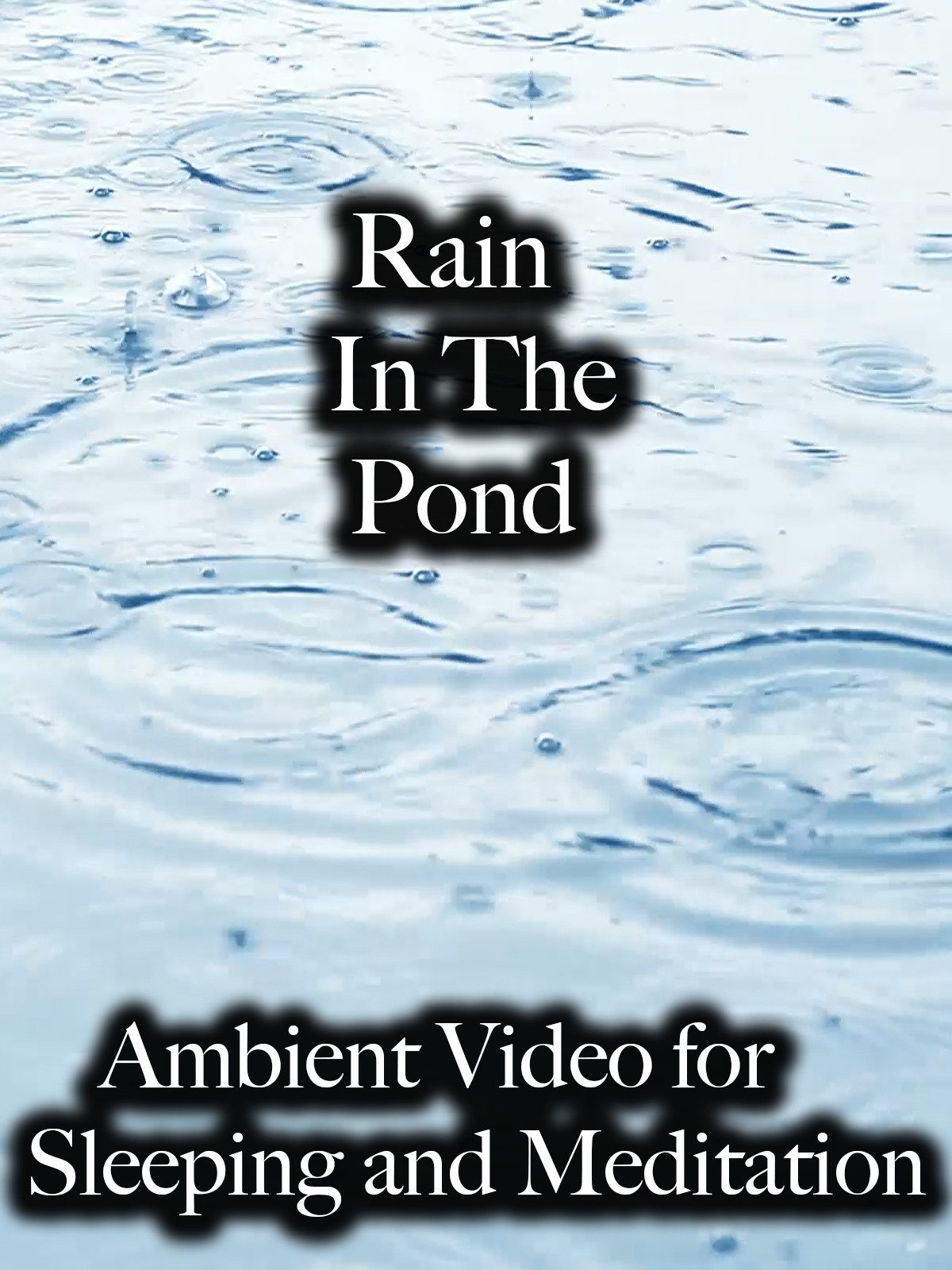 Rain In The Pond Ambient Video for Sleeping and Meditation