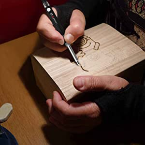 Tabiger Wood Burning Pen/Pyrography Pen, Wood Burning Kit with Adjustable Temp 200~450â?? and ON/Off Switch, 5 PCS Carving/Embossing/Soldering Ti