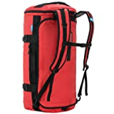 MIER Large Duffel Backpack Sports Gym Bag with Shoe Compartment, Heavy Duty and Water Resistant, Red, 60L (Color: Red, Tamaño: 60L)