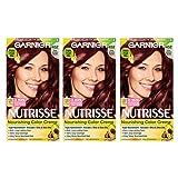 Garnier Nutrisse Nourishing Hair Color Creme, 452 Dark Reddish Brown (Chocolate Cherry), 3 Count (Packaging May Vary) (Color: 452 Dark Reddish Brown (Chocolate Cherry), Tamaño: 3 Count)