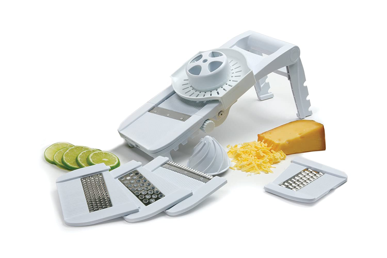 Compact Mandoline Slicer Grater Guard Safety Fruits Cheese Holder Juicer Free Ebay